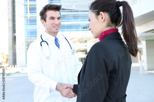 Doctor Handshake with Patient
