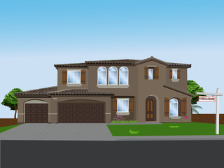 Vector Dream Home and Foreclosure