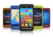 Set of touchscreen smartphones - 28791330