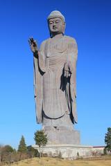 a statue of big Buddha in Ushiku