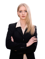 Attractive confident young businesswoman