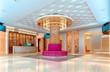 3D club corridor, hall
