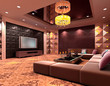 3D club room, hall