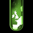 UK map test tube