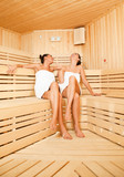 girls sauna laughing