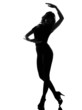 silhouette woman ballet dancing