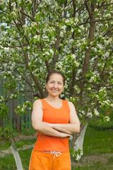 Woman Gardening In The Springtime