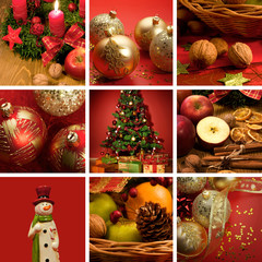 Christmas themed collage