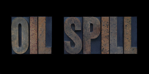 oil spill in wood type