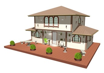 Casa di Marmo-Marble House-3D