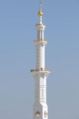 Große Moschee in Abu Dhabi, Minarett