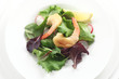 Green Salad with Deep-Fried Prawns