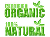 Certified Organic and Natural Symbols poster