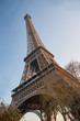 Paris-The Eiffel Tower as view by the downside