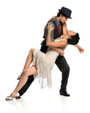 Fototapety Couple Dancing Ballroom Style