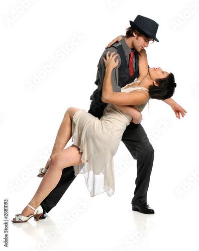 Couple Dancing Ballroom Style