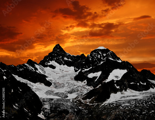 sunset on the Ober Gabelhorn