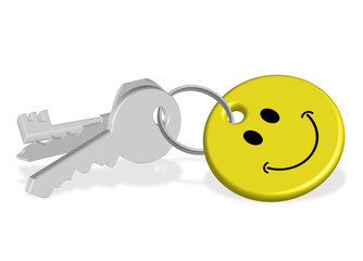 Set of Keys (keyring smiley happy smile my home property label)