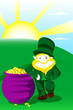 Leprechaun on st patrick day
