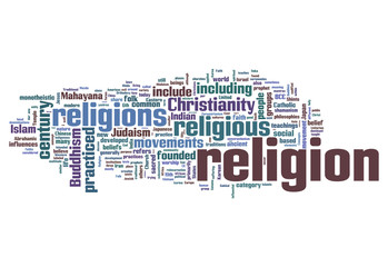 "Word Cloud ""Religion"""
