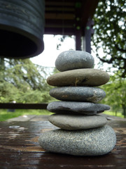 Zen stones and japenese bell