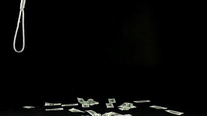 Slipknot in debt - dollars fall on ground