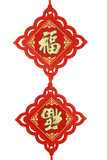 Chinese new year traditional prosperity ornaments poster