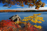 Fototapety Autumn Mountain with lake
