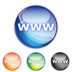 Picto site www- Icon web adress - collection color