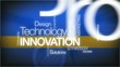 Innovation technology blue background tag cloud animation