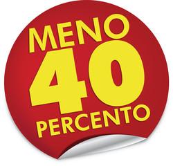 Sconto 40 percento