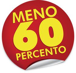Sconto 60 percento