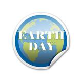 Pegatina EARTH DAY con reborde poster