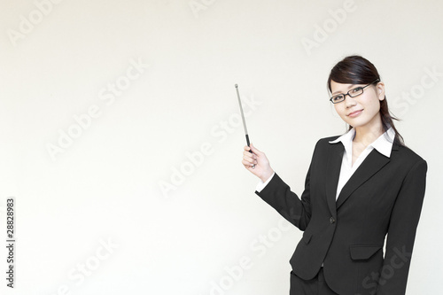 a portrait of young business woman