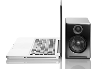 Laptop computer and audio speaker