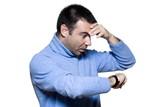 man portrait late stress poster