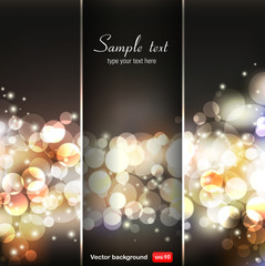Vector blurry bokeh circles background