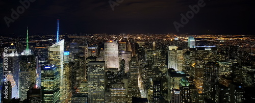 Naklejka New York by night from Empire State Building