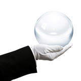 Holding crystal ball