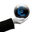 Holding euro sphere