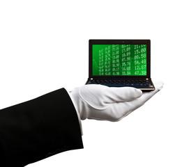 Holding netbook