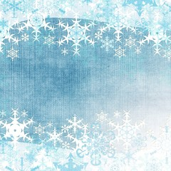 Abstract winter background with snowflakes (1 of set )