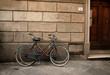 Italian old-style bicyles in Lucca, Tuscany
