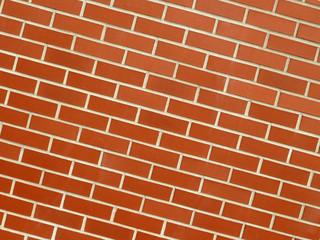 Backsteinmauer diagonal