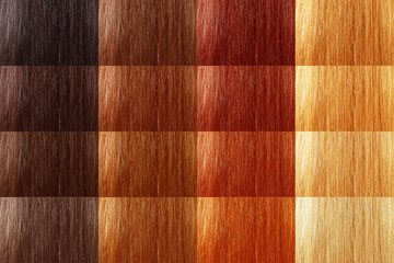 set of natural tint color hair