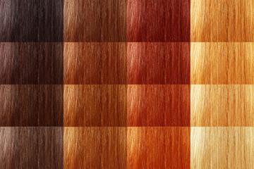 set of natural tint color hair