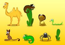 Zestaw zwierząt pustynnych