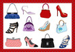 Hand bags and shoes