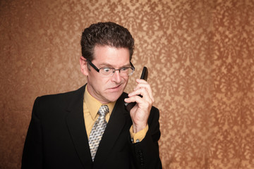 Angry Businessman with Cell Phone