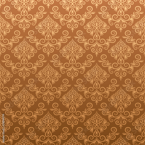 Damask background - seamless vector
